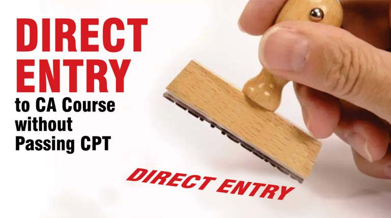Direct Entry CA Course Passing CPT