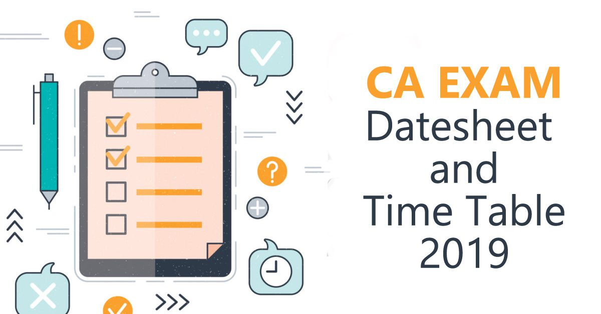 CA Time table and exam dates for foundation, intermediate and final