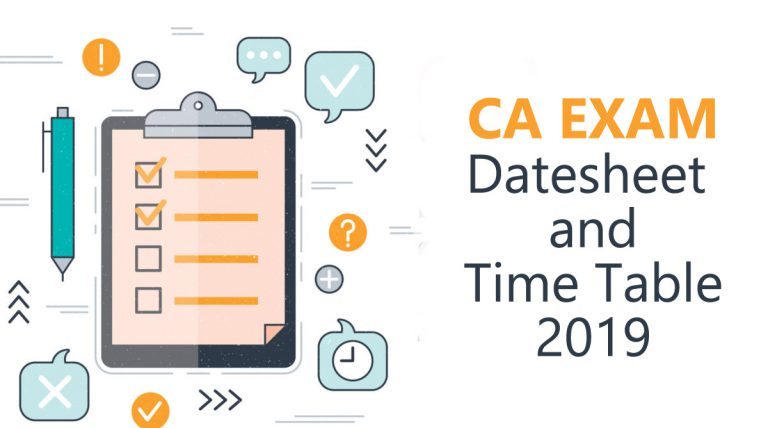 CA exam schedule, CA final exam date sheet, CPT exam date,