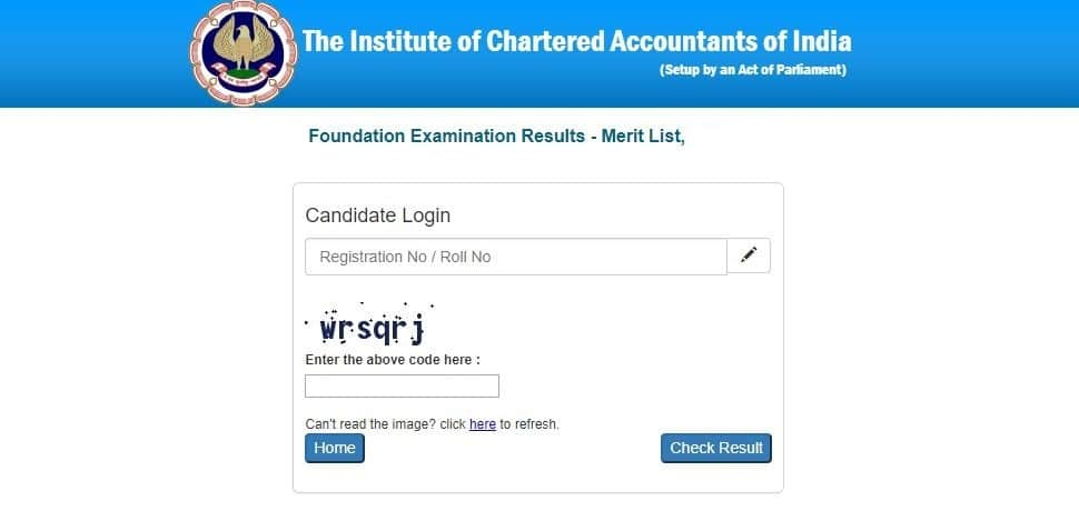 Ca foundation result 2019