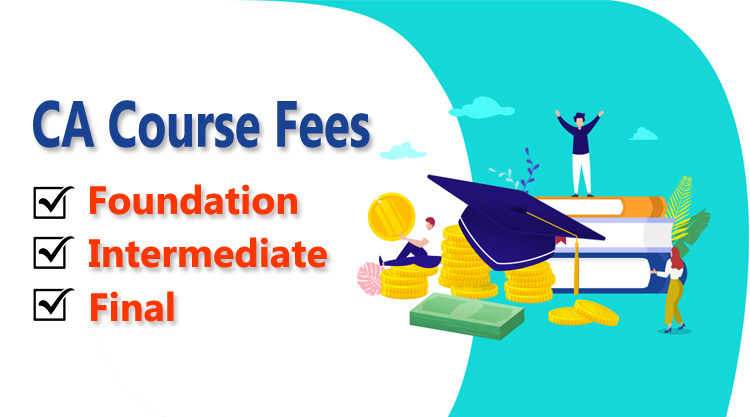 CA course fees and total fees for CA course.