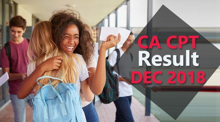 ICAI CA CPT result december 2018