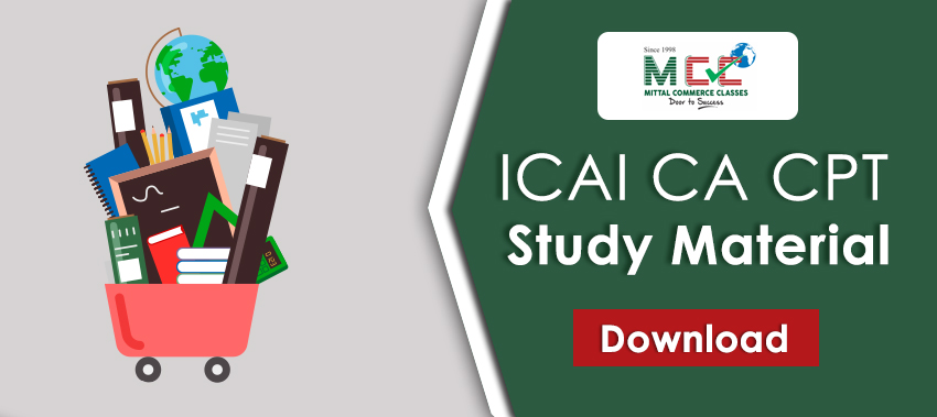 Download ICAI CA CPT Study Material
