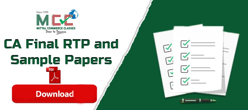 ICAI CA Final RTP and sample test papers