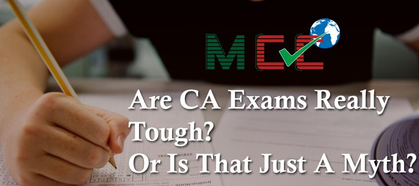 CA exams myth