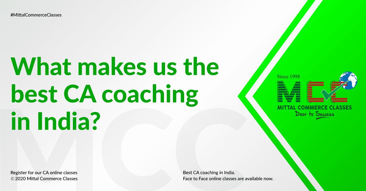 MCC: What makes us the best CA coaching in India?