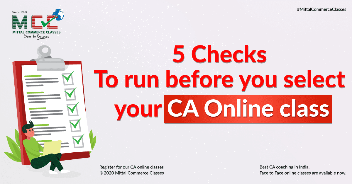 5 checks to run before you select your CA Online class