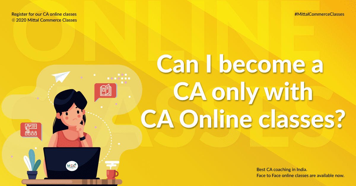 Can I become a CA only with CA Online classes?