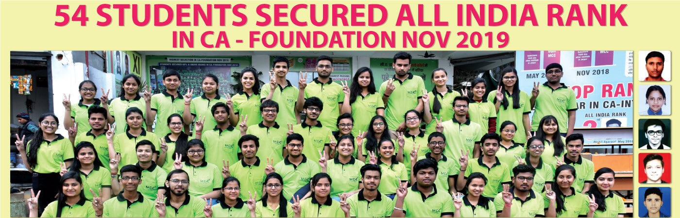 54 Students secured all India rank in CA Foundation Nov 2019