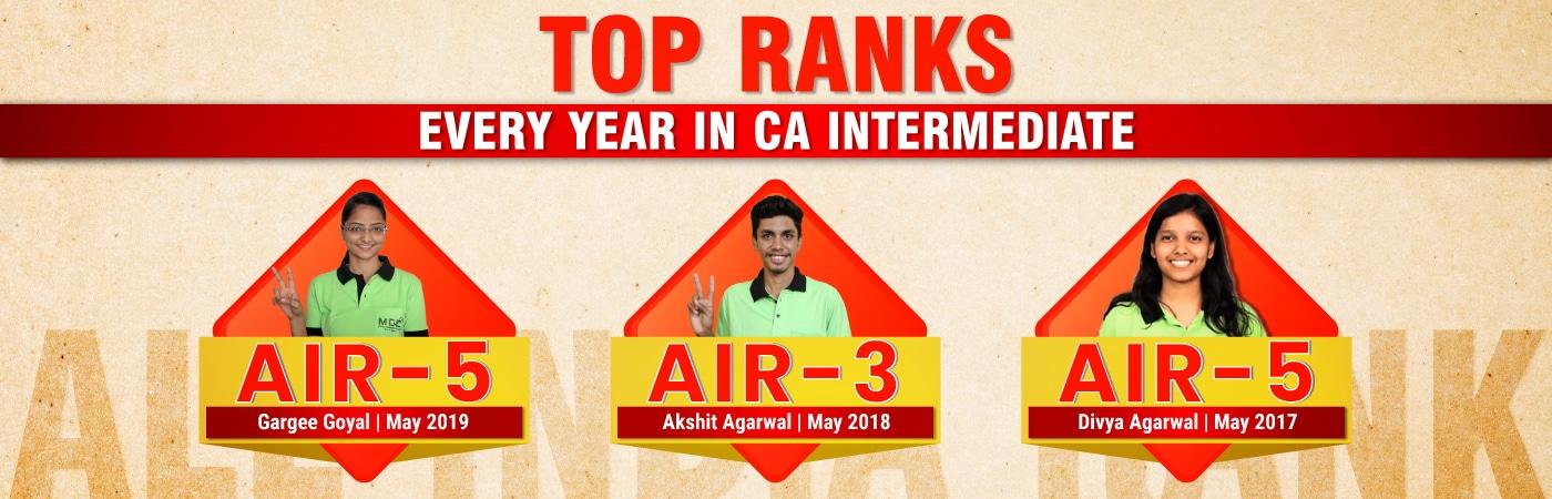 Top ranks every year in CA Intermediate