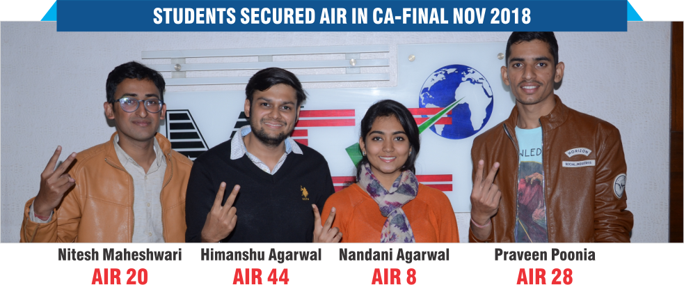 Student Secured All India Rank in CA - Final Nov 2018