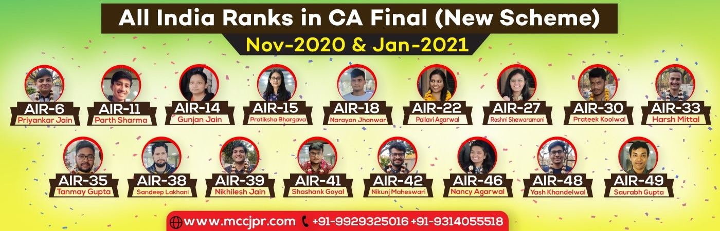 All India Ranks in CA Final